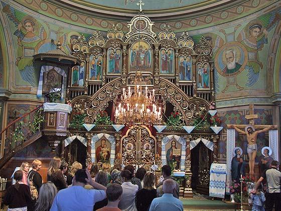 Інтер'єр храму у Славську. Фото зі статті