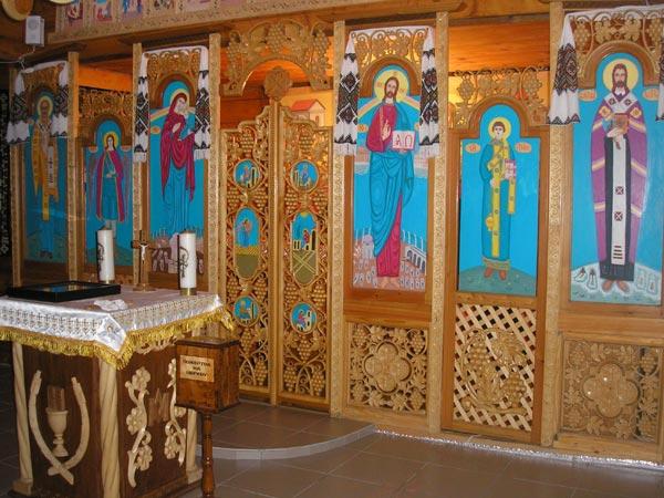Иконостас в церкви Конгрегации св. Андрея