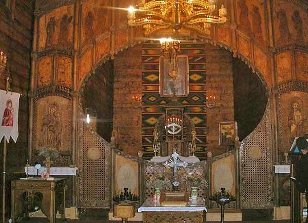 Интерьер церкви св. Ильи в Доре