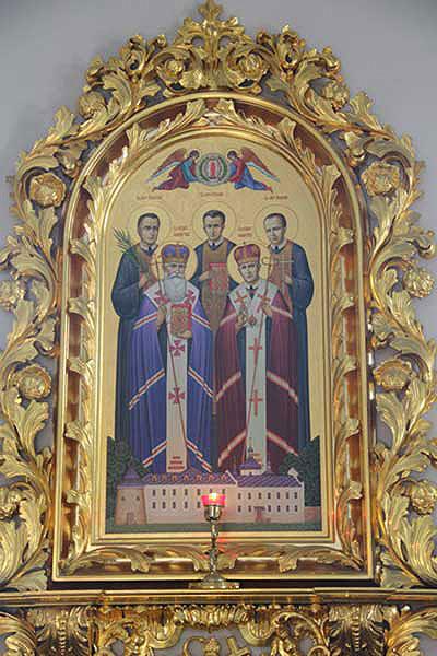 Ікона блаженних новомучеників ЧСВВ у церкві св.Онуфрія
