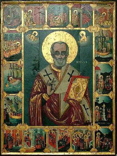 Типова ікона св. Миколая у болгар