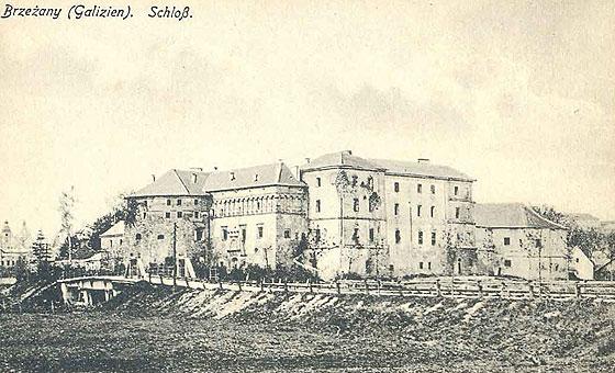 Архівне зображення Бережанського замку