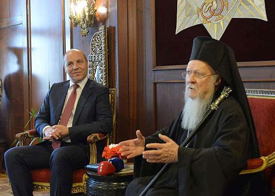 Зустріч Андрія Парубія і Патріарха Варфоломія