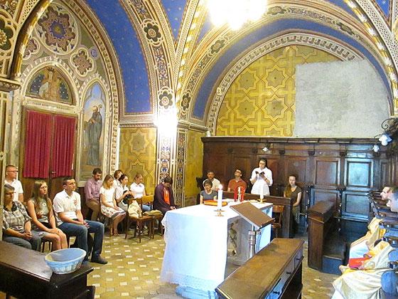 Літургія учасників літньої школи, присвяченої Йосифу Сліпому, у монастирі в Субіяко