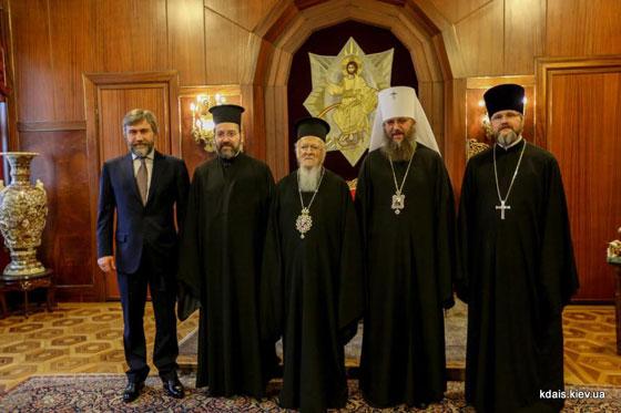 Візит делегації УПЦ (МП) на Фанар