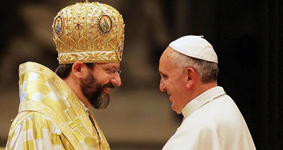 Патріарх Святослав і Папа Франциск