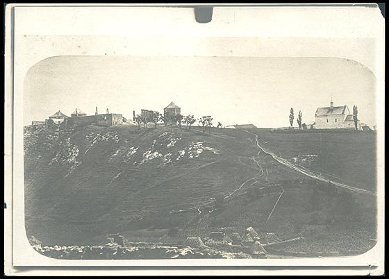 Руїни Кривченського замку. Фото невідомого автора початку ХХ століття