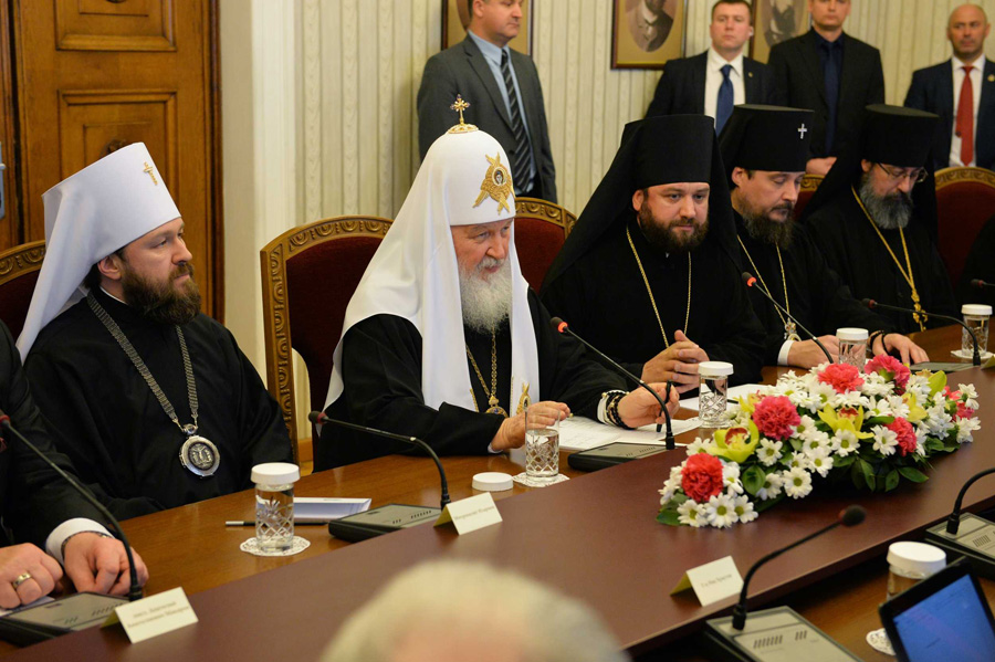во время встречи с Президентом Болгарии