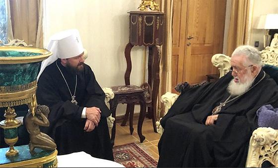 Візит митрополита Іларіона. Фото зі сайту Mospat.ru