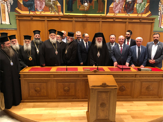 російська делегація на Синоді Елладської Церкви