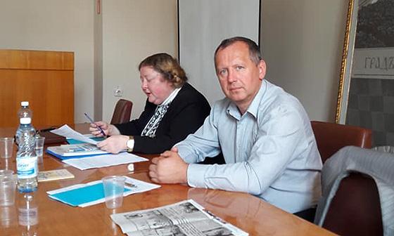 Професори Ірина Преловська і Олександр Саган