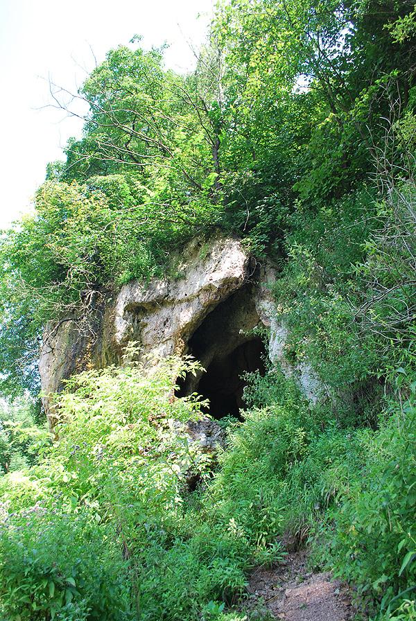 Вхід до скельного храму біля села Стінка