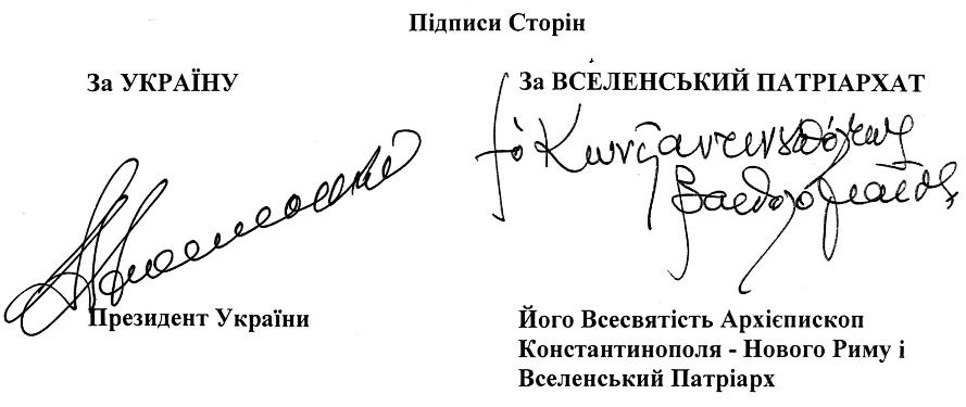 Підписи під Угодою
