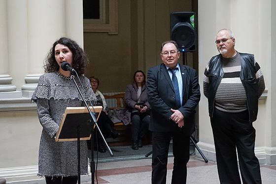 Зліва направо: Ольга Ткачук, Ігор Кожан, Вадим Волков.