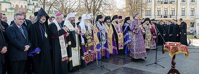 Prayer service for peace in Ukraine held at Sofia square in Kyiv. And in many Ukrainian cities