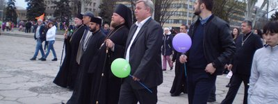 Easter procession in Zaporizhia gathers believers of different faiths