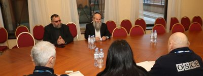 OSCE representatives meet with the main Rabbi of Dnipro