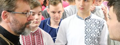 The head of the UGCC invited children and parents to a non-denominational Catholic school in Kyiv