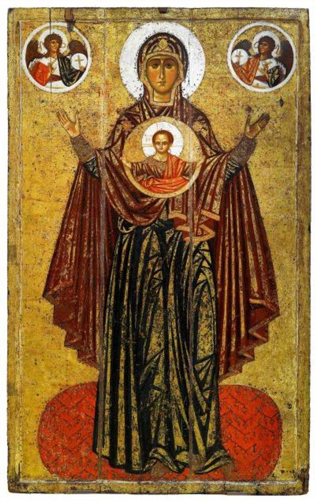 Київська ікона Богоматері Великої Панагії (Ярославська Оранта), ХІІ століття - фото 51205