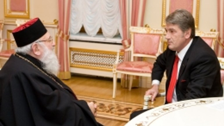 President Yushchenko thanked the Head of the UGCC for Impartial Position of Church in Elections - фото 1