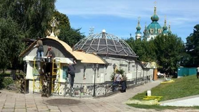 Illegal Construction of UOC-Moscow Patriarchate Church Near Foundation of Tithe Church Continues - фото 1