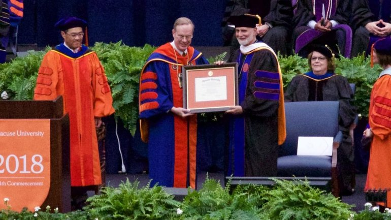 Bishop Borys Gudziak awarded with a honorary doctorate of Syracuse University - фото 1