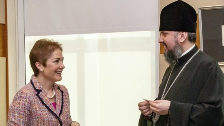 Metropolitan Epifaniy discusses religious and political situation in Ukraine with US Ambassador - фото 1