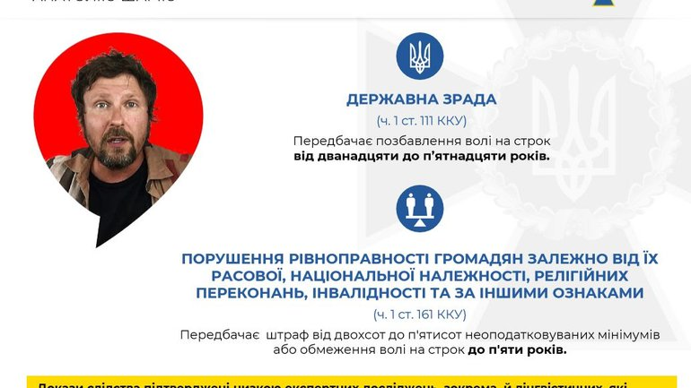 SBU announces suspicion to Shariy: high treason and incitement to religious hatred - фото 1