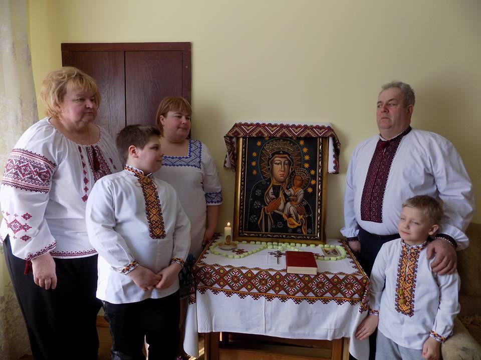 Люба Лапко з родиною