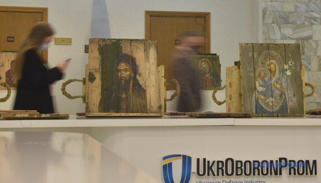 В Укроборонпромі відкрилась виставка «Ікони на ящиках з-під набоїв» - фото 67997